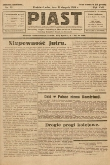 Piast : tygodnik polityczny, społeczny, oświatowy, poświęcony sprawom ludu polskiego : Naczelny organ Polskiego Stronnictwa Ludowego. 1929, nr32
