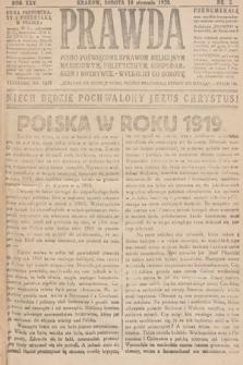 Prawda : pismo poświęcone sprawom religijnym, narodowym, politycznym, gospodarskim i rozrywce. 1920, nr2