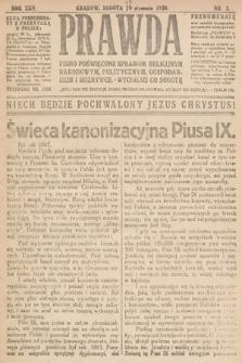 Prawda : pismo poświęcone sprawom religijnym, narodowym, politycznym, gospodarskim i rozrywce. 1920, nr3