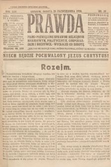 Prawda : pismo poświęcone sprawom religijnym, narodowym, politycznym, gospodarskim i rozrywce. 1920, nr39