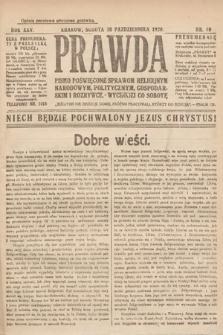 Prawda : pismo poświęcone sprawom religijnym, narodowym, politycznym, gospodarskim i rozrywce. 1920, nr40