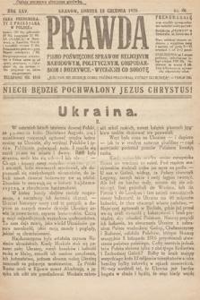 Prawda : pismo poświęcone sprawom religijnym, narodowym, politycznym, gospodarskim i rozrywce. 1920, nr46