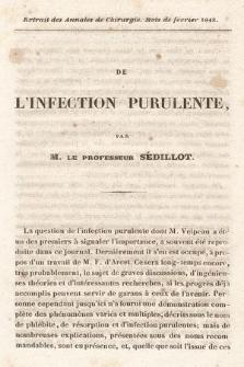 De l'infection purulente