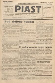 Piast : tygodnik polityczny, społeczny, oświatowy, poświęcony sprawom ludu polskiego : Naczelny organ Polskiego Stronnictwa Ludowego. 1930, nr20