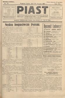 Piast : tygodnik polityczny, społeczny, oświatowy, poświęcony sprawom ludu polskiego : Naczelny organ Polskiego Stronnictwa Ludowego. 1931, nr35