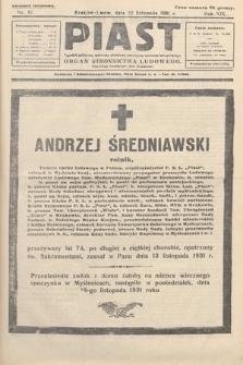 Piast : tygodnik polityczny, społeczny, oświatowy, poświęcony sprawom ludu polskiego : Naczelny organ Polskiego Stronnictwa Ludowego. 1931, nr47
