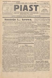 Piast : tygodnik polityczny, społeczny, oświatowy, poświęcony sprawom ludu polskiego : Naczelny organ Polskiego Stronnictwa Ludowego. 1932, nr3