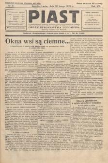 Piast : tygodnik polityczny, społeczny, oświatowy, poświęcony sprawom ludu polskiego : Naczelny organ Polskiego Stronnictwa Ludowego. 1932, nr9