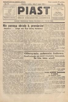 Piast : tygodnik polityczny, społeczny, oświatowy, poświęcony sprawom ludu polskiego : Naczelny organ Polskiego Stronnictwa Ludowego. 1932, nr19