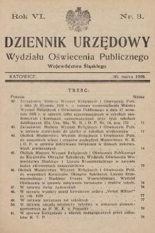 Dziennik Urzędowy Wydziału Oświecenia Publicznego Województwa Śląskiego. 1929, nr3
