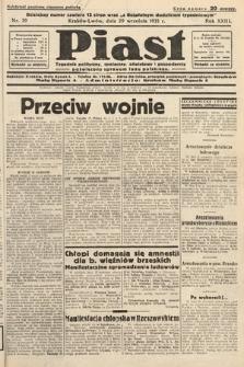 Piast : pismo polityczne, społeczne, oświatowe, poświęcone sprawom ludu polskiego. 1935, nr39