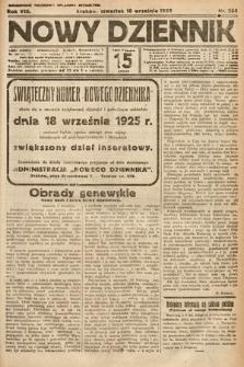 Nowy Dziennik. 1925, nr204