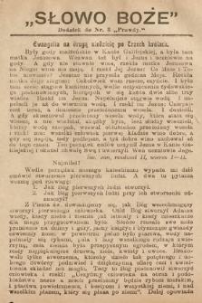 Słowo Boże : dodatek do Prawdy. 1908, nr3