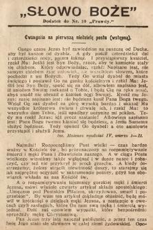 Słowo Boże : dodatek do Prawdy. 1908, nr10