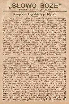 Słowo Boże : dodatek do Prawdy. 1908, nr25