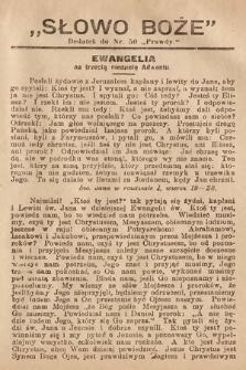 Słowo Boże : dodatek do Prawdy. 1908, nr50