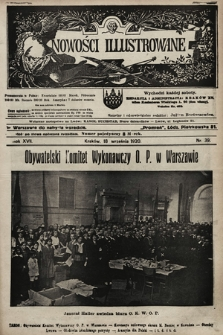 Nowości Illustrowane. 1920, nr38