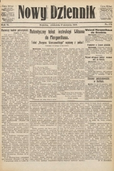 Nowy Dziennik. 1919, nr172