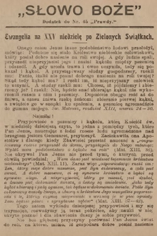 Słowo Boże : dodatek do Prawdy. 1910, nr45