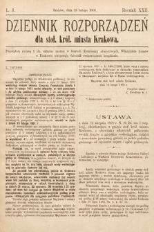 Dziennik Rozporządzeń dla Stoł. Król. Miasta Krakowa. 1901, L.3
