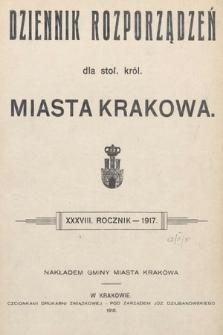 Dziennik Rozporządzeń dla Stoł. Król. Miasta Krakowa. 1917 [całość]