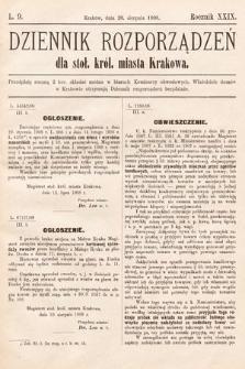 Dziennik Rozporządzeń dla Stoł. Król. Miasta Krakowa. 1908, L.9