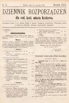 Dziennik Rozporządzeń dla Stoł. Król. Miasta Krakowa. 1908, L.11
