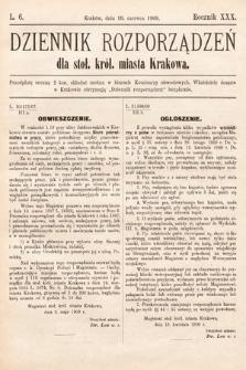 Dziennik Rozporządzeń dla Stoł. Król. Miasta Krakowa. 1909, L.6