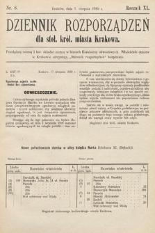 Dziennik Rozporządzeń dla Stoł. Król. Miasta Krakowa. 1919, nr8