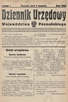 Dziennik Urzędowy Województwa Poznańskiego. 1928, nr1