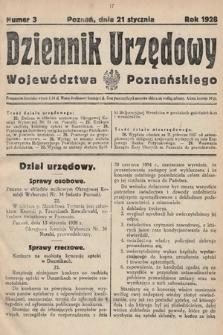 Dziennik Urzędowy Województwa Poznańskiego. 1928, nr3