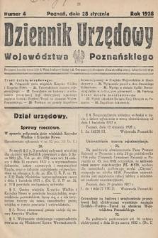 Dziennik Urzędowy Województwa Poznańskiego. 1928, nr4