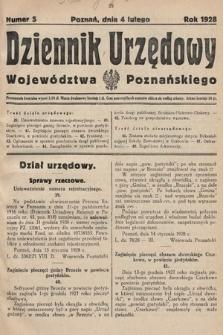 Dziennik Urzędowy Województwa Poznańskiego. 1928, nr5