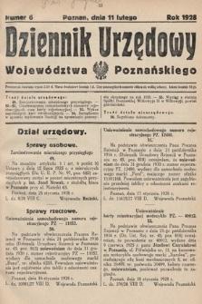 Dziennik Urzędowy Województwa Poznańskiego. 1928, nr6