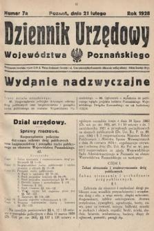 Dziennik Urzędowy Województwa Poznańskiego. 1928, nr7a