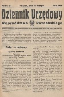 Dziennik Urzędowy Województwa Poznańskiego. 1928, nr8