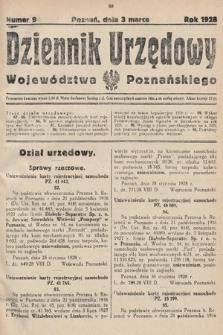 Dziennik Urzędowy Województwa Poznańskiego. 1928, nr9