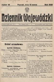 Dziennik Wojewódzki. 1928, nr10