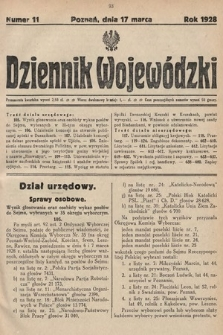Dziennik Wojewódzki. 1928, nr11