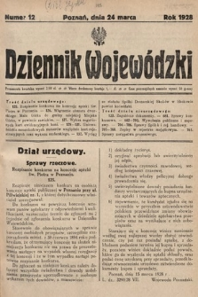 Dziennik Wojewódzki. 1928, nr12