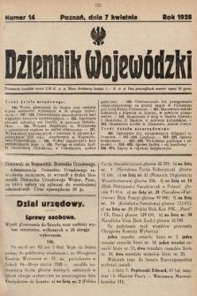 Dziennik Wojewódzki. 1928, nr14