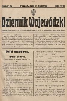 Dziennik Wojewódzki. 1928, nr15