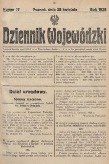 Dziennik Wojewódzki. 1928, nr17