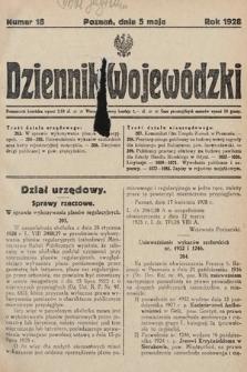 Dziennik Wojewódzki. 1928, nr18