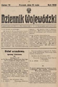 Dziennik Wojewódzki. 1928, nr19