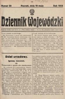 Dziennik Wojewódzki. 1928, nr20