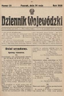 Dziennik Wojewódzki. 1928, nr21
