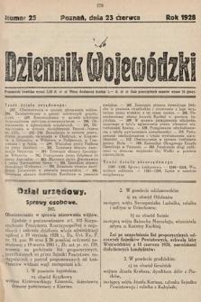 Dziennik Wojewódzki. 1928, nr25
