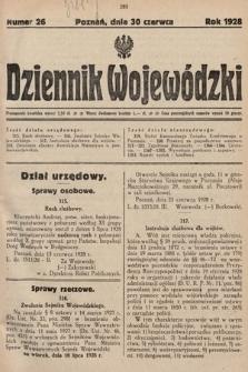 Dziennik Wojewódzki. 1928, nr26