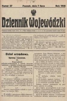 Dziennik Wojewódzki. 1928, nr27